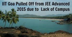 IIT Goa JEE Advanced 2015