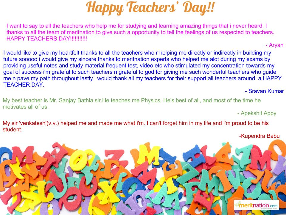 a note on teachers day