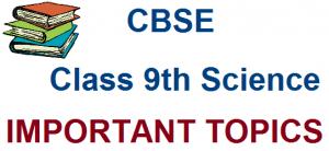CBSE Class 9 Science: Important Topics for SA1 Exams