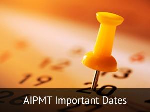 AIPMT Important Dates