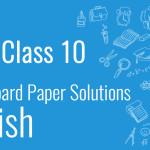 CBSE Board Paper class 10 English