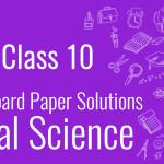CBSE Board Paper class 10 SST