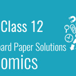 CBSE Board Paper class 12 Economics