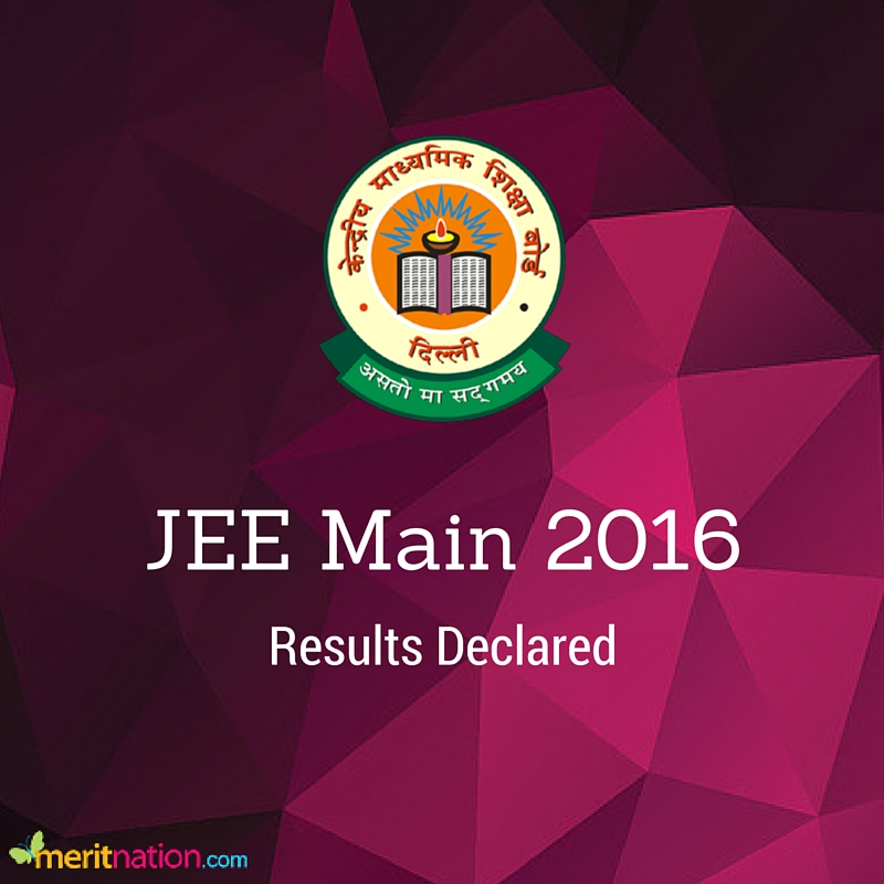 JEE Main 2016 Results Declared