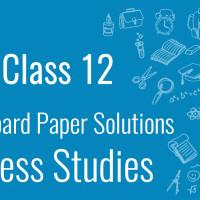 CBSE Board Paper class 12 B studies
