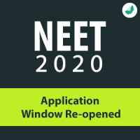NEET 2020 - Application Window Re-opened