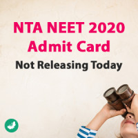 NTA NEET 2020 Admit Card Not Releasing Today